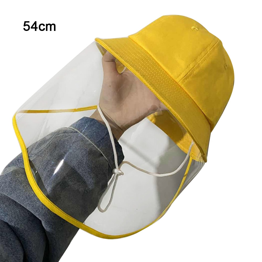 NEW Children Antibacterial Anti Fog Dust Cap 2 In 1 Hat For Kid Flue Spittle Cover Full Face Eye Protect Veil
