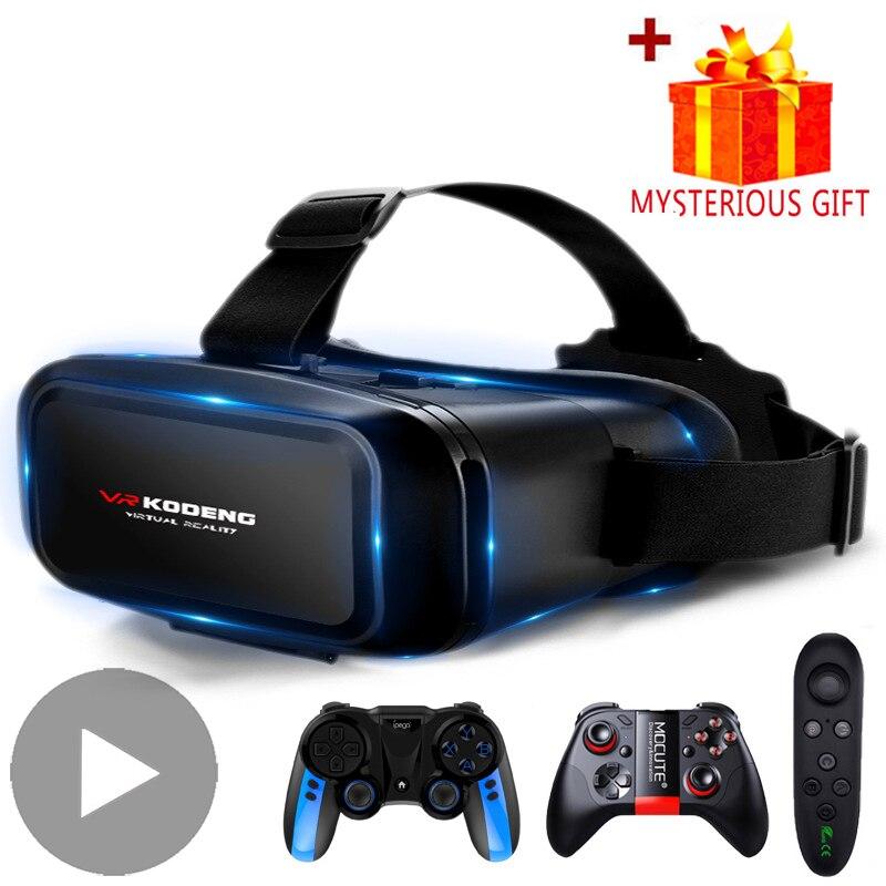 Casco de gafas inteligentes de realidad Virtual 3D VR para teléfonos inteligentes, teléfono móvil con controladores, lentes, gafas, binoculares