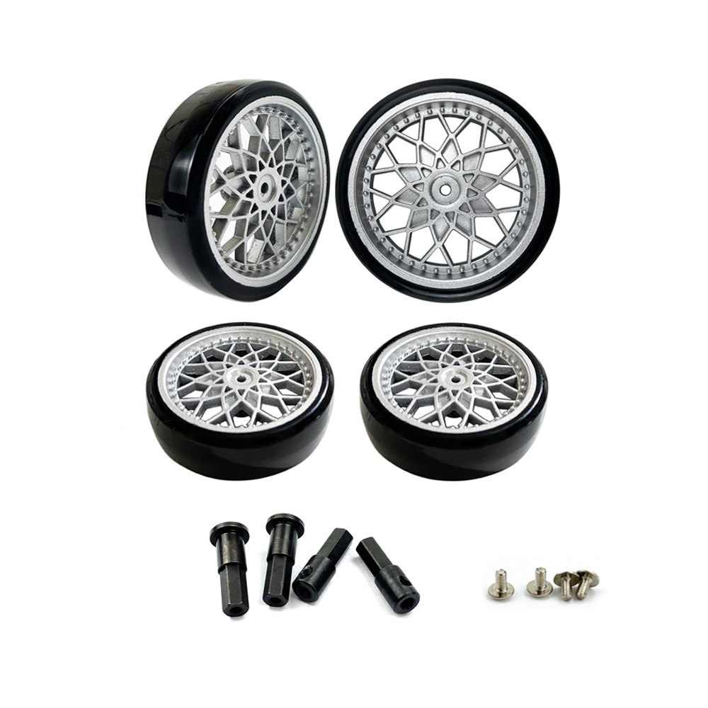 Фото - WPL D12 Tires Upgrade Wheel Rim Wheel Hubs Rubber Tires With 5mm Metal Combiner Wheel Hub Hex Adapter RC Car Spare Parts 4pcs 1 64 modified wheels rubber tires with axles and end cap upgrade parts for rc model car