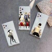 19 days anime boy phone case transparent for iphone 7 8 11 12 se 2020 mini pro x xs xr max plus