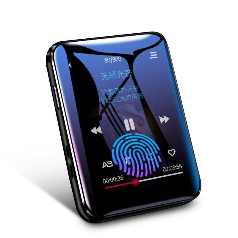 Original benjie x1 mp4 player Bluetooth 5.0 built-in speaker full screen touch radio recording e-book picture video playback enlarge