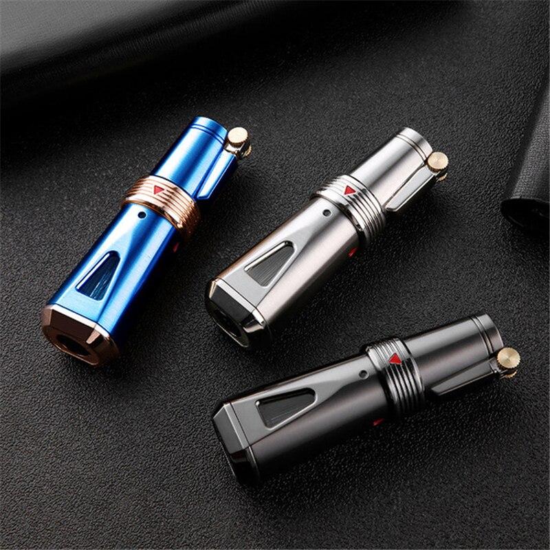 JOBON llama tipo soplete encendedor de Gas de antorcha Turbo encendedor de Metal encendedor de cigarros encendedores de cigarrillos accesorios de fumar rueda de molienda Igniti
