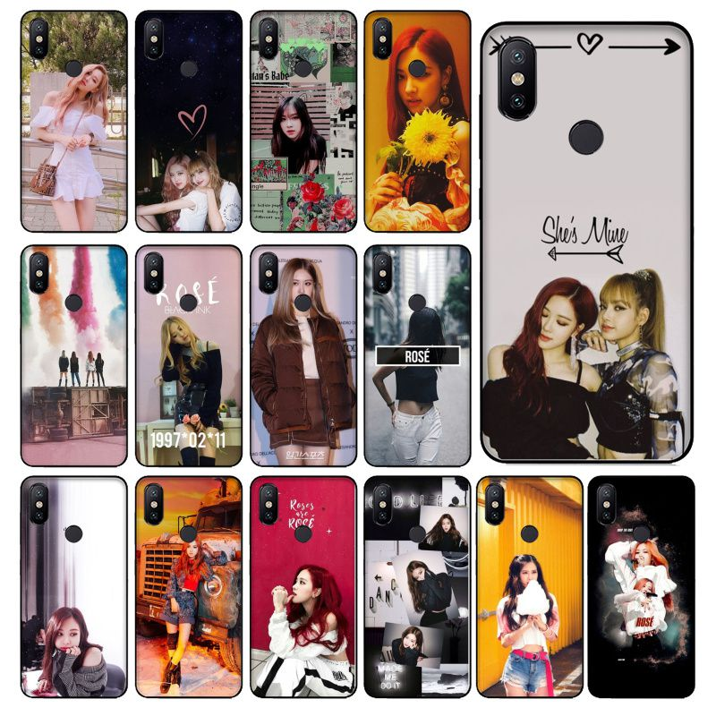 BLACKPINK ROSE Kpop Photo Soft Phone Case For Redmi 5 6 5plus 6Pro 6A S2 4X Redmi 7 7A Cover case Coque Shell