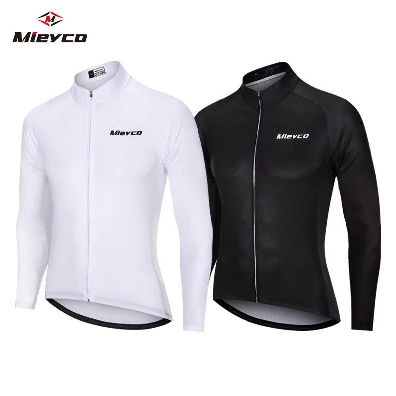 Color puro Camiseta De manga larga De Motocross blanco negro chaquetas MTB...