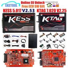 EU Online KESS V5.017 SW2.53 KESS V2.53 KTAG V7.020 SW2.25 LED BDM Frame BDM Probe 22pcs BDM100 Fgtech V54 Galletto