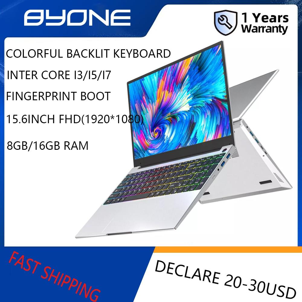 Review 15.6 Inch Intel Core i3 i5 i7 Laptop Gaming Laptop 12GB 16GB RAM 512G SSD Fingerprint Unlock 1920×1080 Protable Laptop Computer