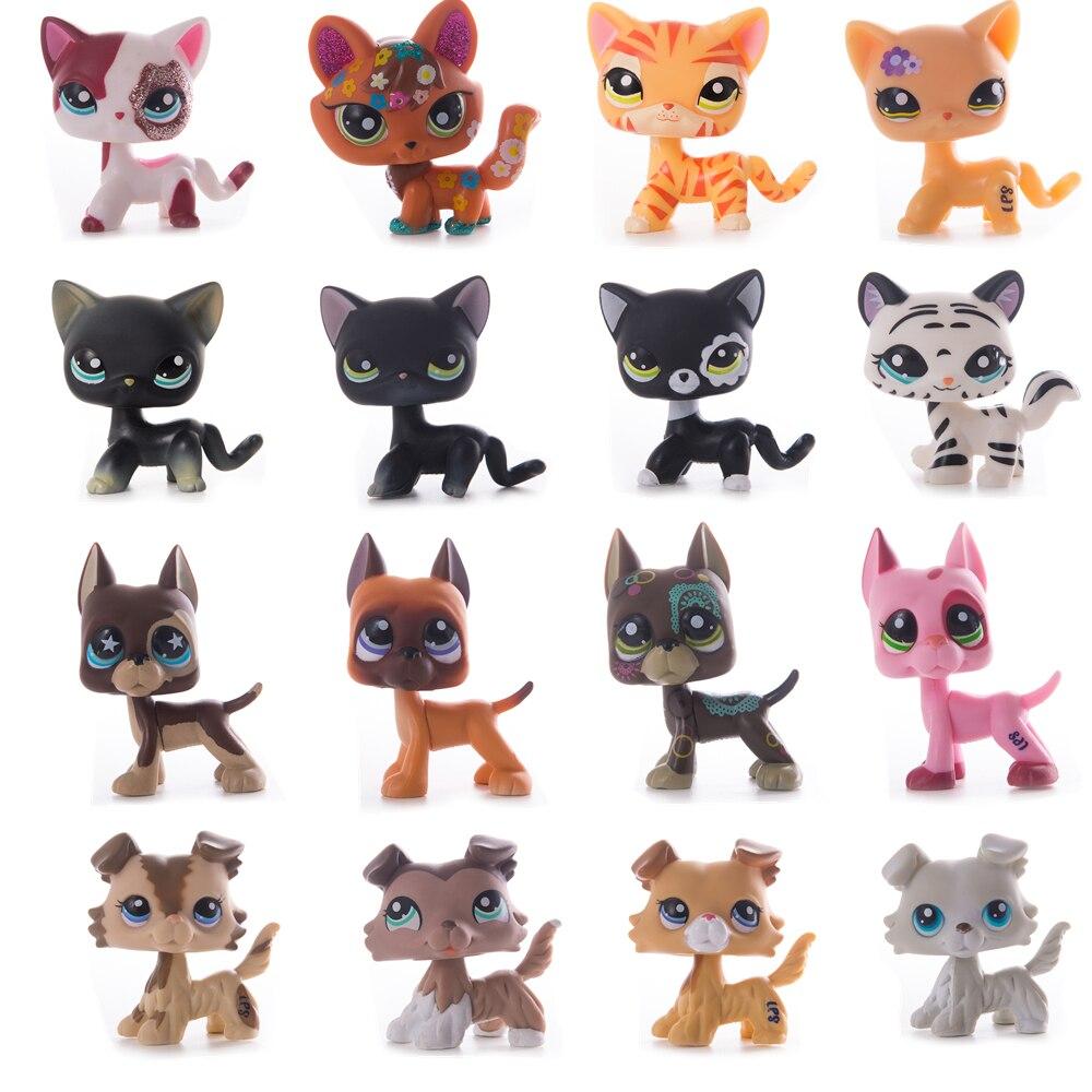 Raro lps pet shop brinquedo frete grátis shorthair gato marrom great dane carrinho figura de ação coleção 41 estilo conjunto das crianças presente