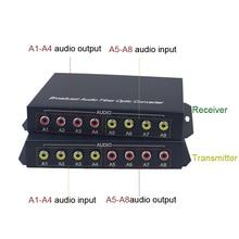 Émetteur-récepteur de Fiber de diffusion Audio 4 canaux avant et arrière convertisseur optique audio fibre monomode 20KM