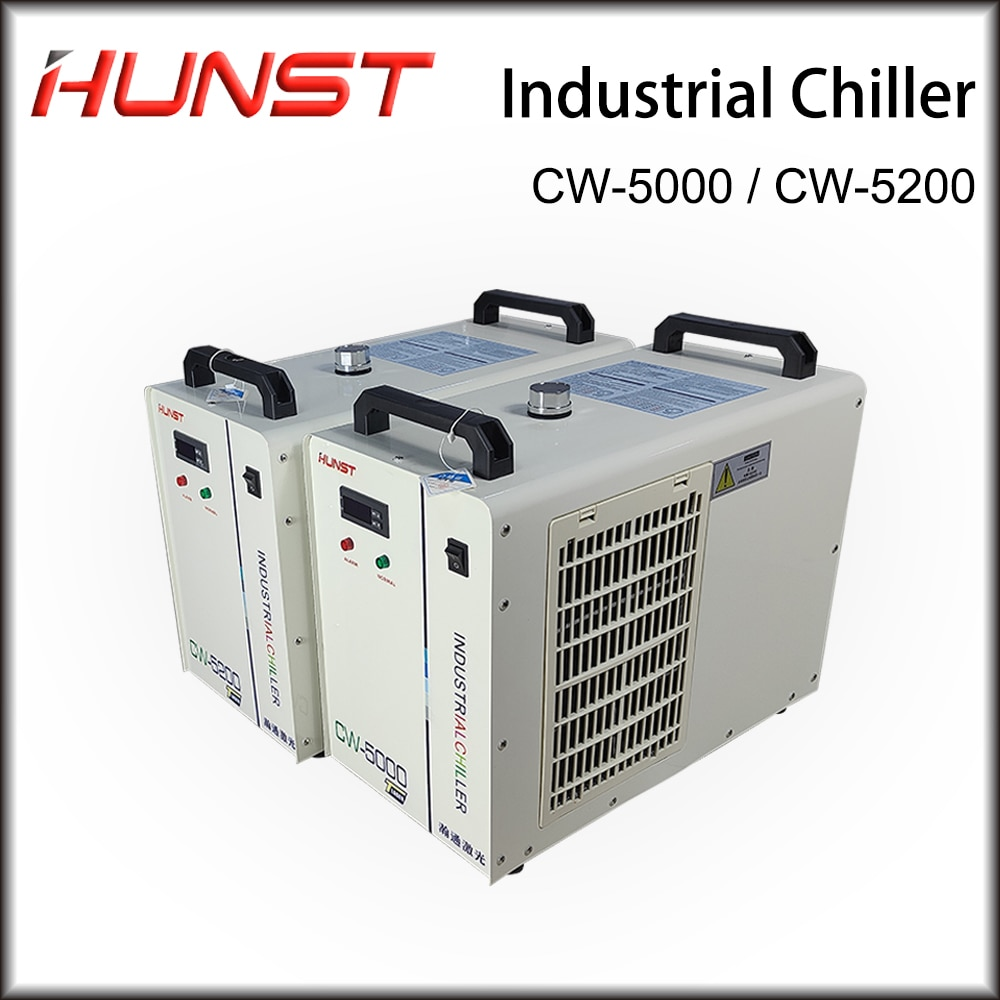 Hunst  CW-5000 CW-5200 Industry Air Water Chiller for CO2 Laser Engraving Cutting Machine Cooling 80~150W Laser Tube