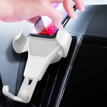 Gravity Car Mount For Mobile Phone Holder Car Air Vent Clip Stand Cell phone GPS Support For iPhone