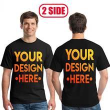 การออกแบบของคุณเองสำหรับสอง Logoand รูปภาพ Tshirt ผู้ชายและผู้หญิง DIY Cotton T เสื้อสบายๆเสื้อยืด