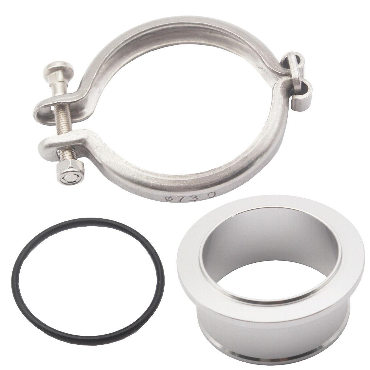 Para holset hx35 hx35w hx40w turbo compressor v-band flange braçadeira cummins 5.9l