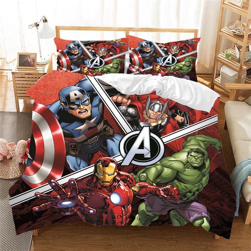 Jogo de cama 3d queen king size, conjunto de cama com fronha, vingadores capitão américa