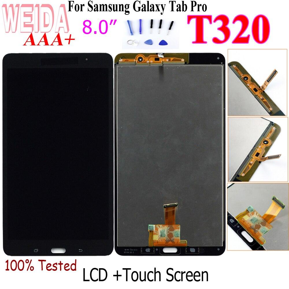 "WEIDA T320 LCD reemplazo 8 ""para Samsung Galaxy Tab Pro 8,4 T320 SM-T320 LCD pantalla táctil digitalizador montaje T320 WIFI"