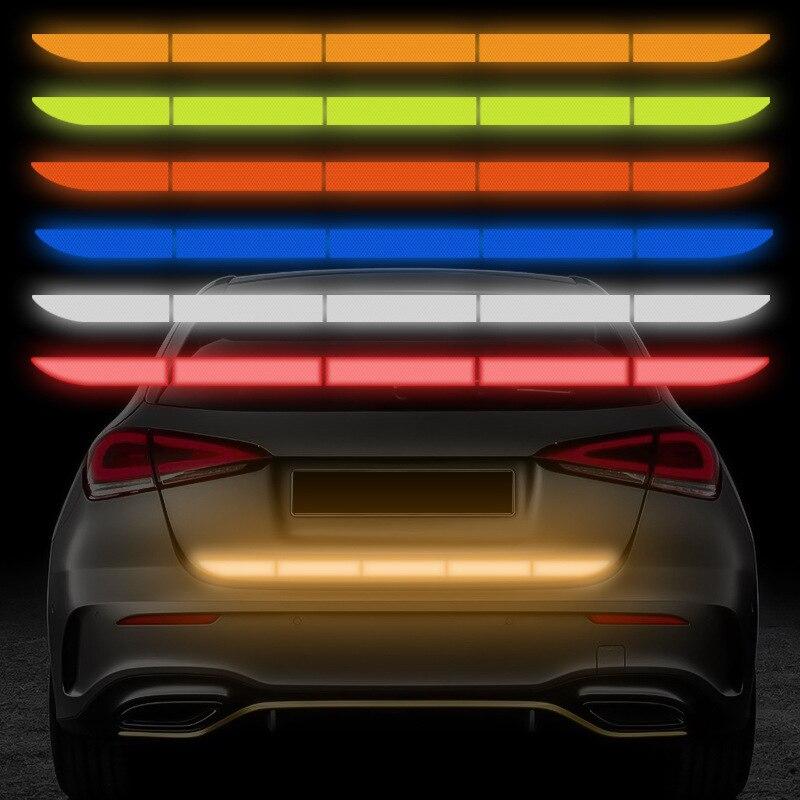 5 шт./компл. Светоотражающая наклейка для автомобиля багажник Авто Предупреждение стикер полосы нано лента Безопасность анти-столкновения ...