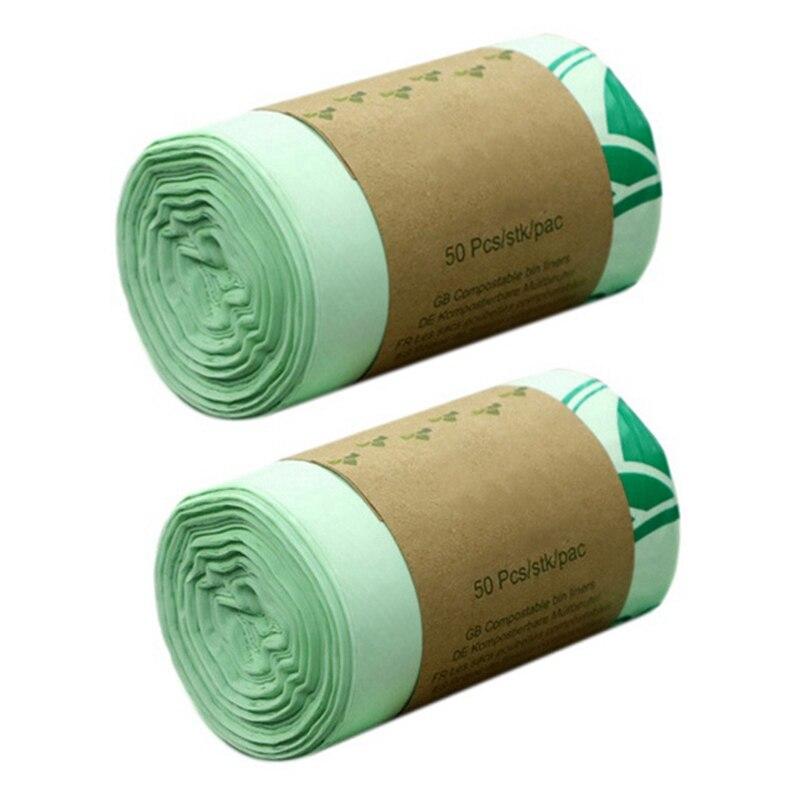 50Pcs Umweltschutz Kompostierbar Tasche Biologisch Abbaubaren Kunststoff Lebensmittel Umweltschutz Tasche
