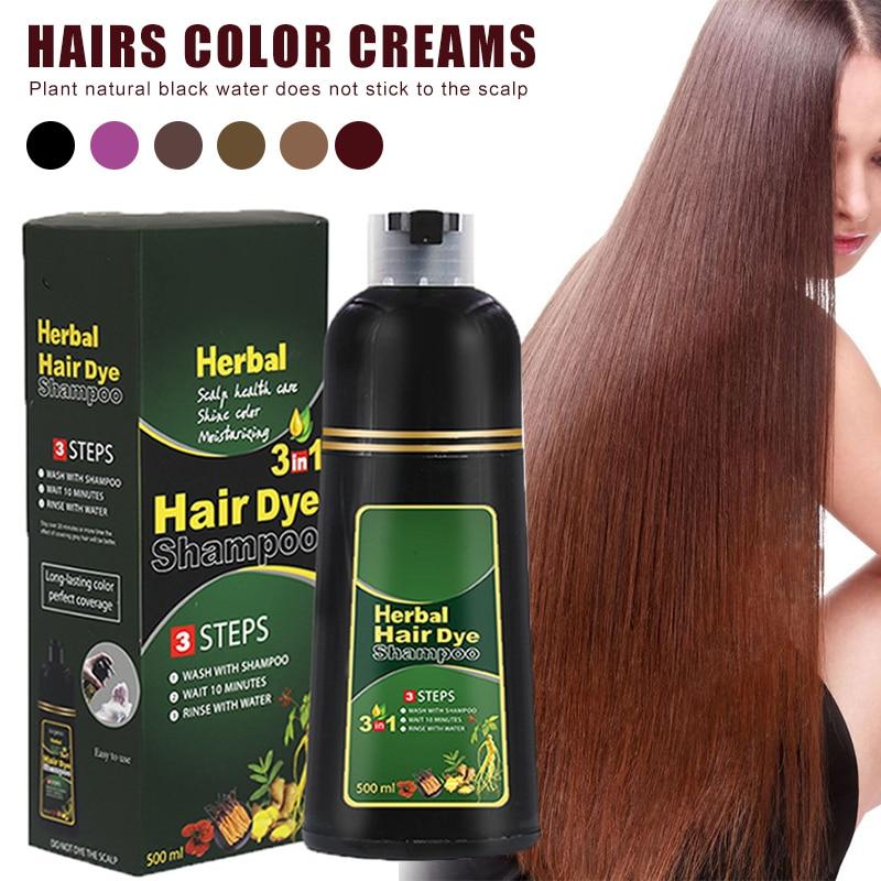 High Quality Herbal Hair Dye Shampoo Natural Non-Scalp Hair Care Multi-Color Hair Dye for Men and Women