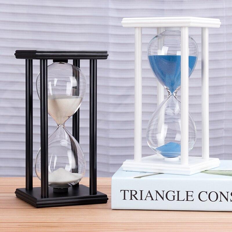 5/15/30min Wooden Sand Clock Sandglass Kitchen School Hourglass Timer Home Decor Hourglass Decoration Personality Birthday Gift недорого