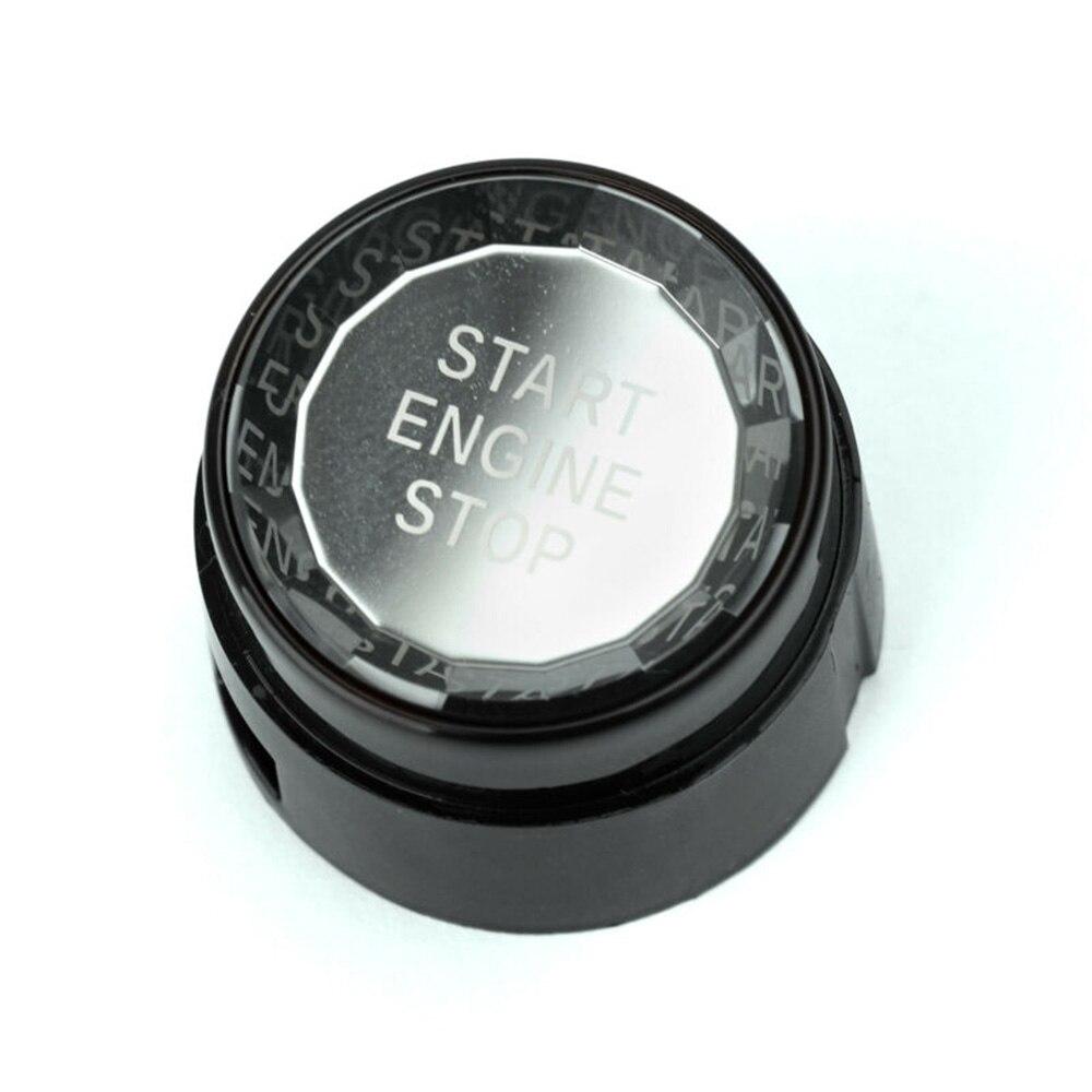 Tapa de interruptor de botón de arranque de motor Cristal recortado para BMW F chasis F30 / F10 T1 accesorios de molduras interiores