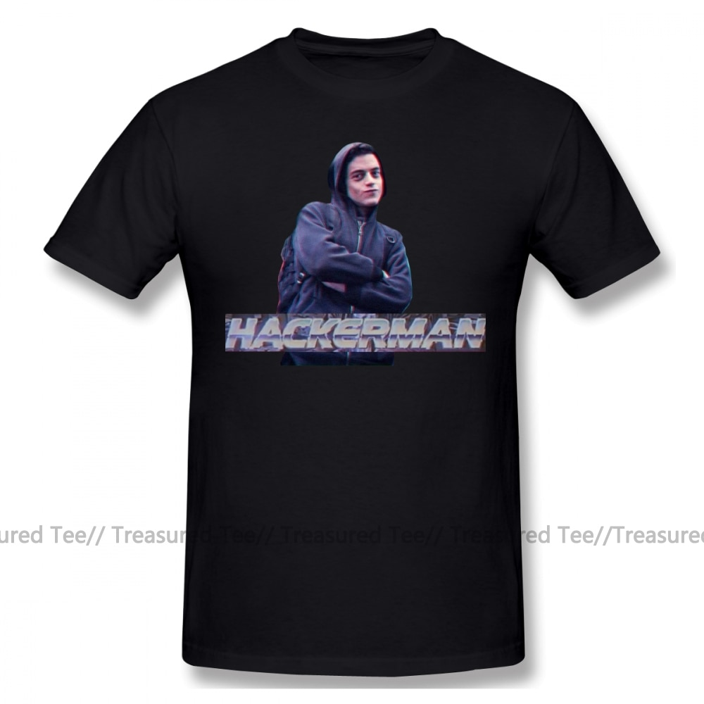 Camiseta de Hacker, camiseta de Mr Robot HACKERMAN, camiseta de manga corta 100 algodón, camiseta XXX bonita con dibujo para hombre, camiseta de playa