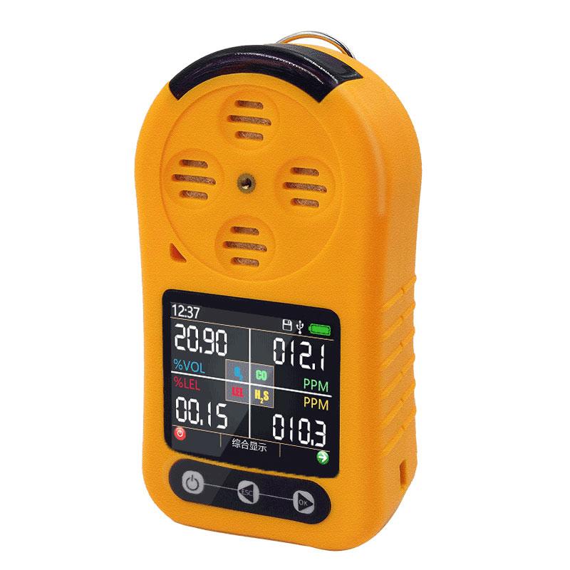 EX/O2/H2S/CO 4in1 كاشف الغاز مع LCD متعدد الغازات رصد السامة والضارة كبريتيد الهيدروجين COz المحمولة كاشف الغاز الاحادي كاشف الغاز