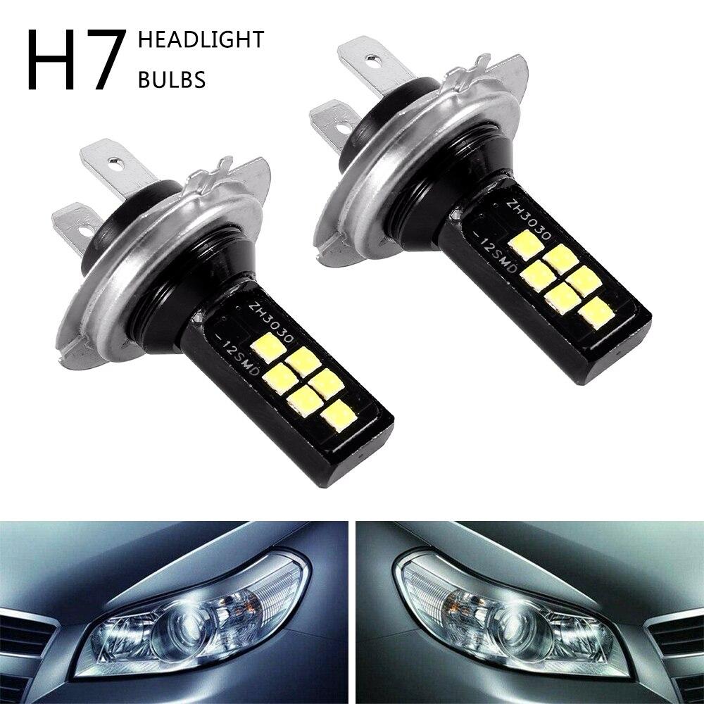 2 PCS H7 120W Auto LED Super Helle Scheinwerfer Scheinwerfer Nebel Glühbirnen 12 SMD Wasserdichte Lauf Licht Auto zubehör