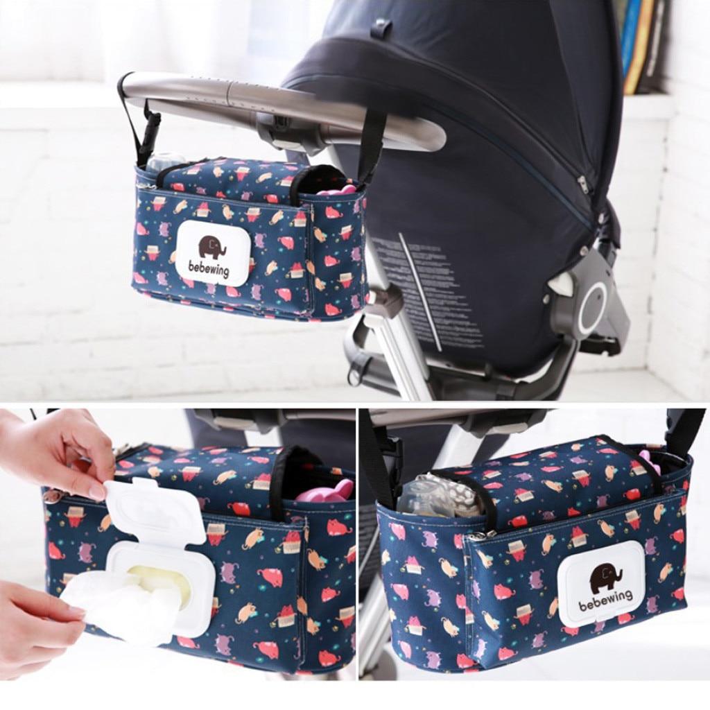 Baby Stroller Waterproof Accessories Cartoon Elephant Hanging Bag Storage Bag Stroller For Baby Stokke Stroller Accessories