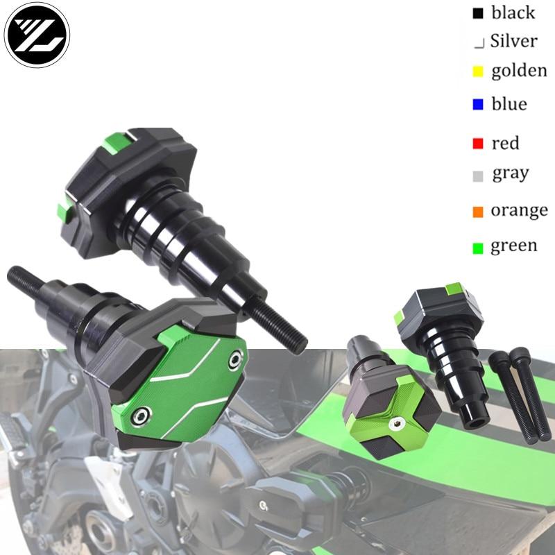 Motocicleta schroef crash pad protector quadro slider capa caindo protetor guarda para kawasaki z750 zx1100 zx12r ER-5 zr750r 650