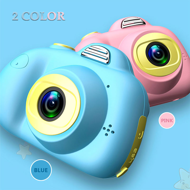 Toys Camera Mini 2.0 inch HD IPS Screen Children Kids Camera D6 1080P Video Recorder Flash Photo 12MP Camcorder For Kids Gift
