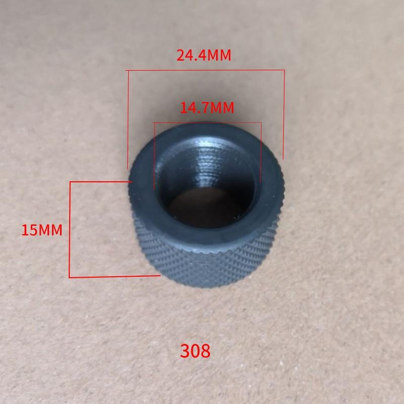 Accessoires de chasse 223/308 acier fil protecteur 1/2-28 5/8-24 museau frein pour 10/22 filetage adaptateur extérieur pistolet accessoires