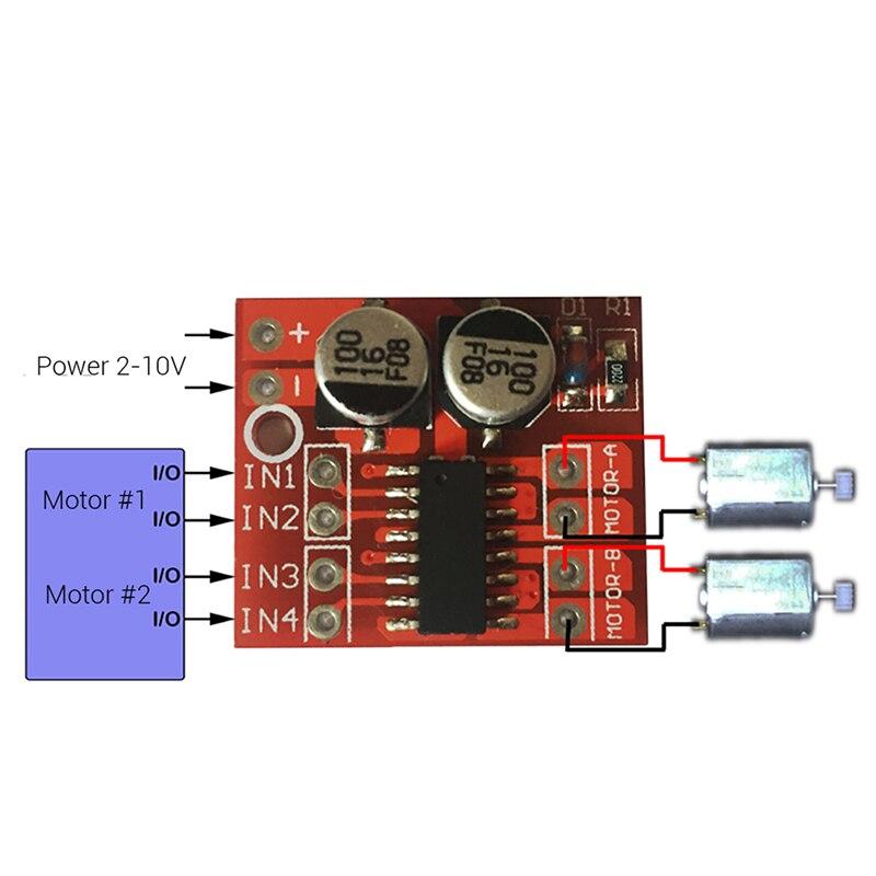 1 шт. мини-модуль pwm контроль скорости за L298N1.5A 2-Way MX1508 DC двигатель драйвер модуль pwm скорость двойной h-мост шаговый