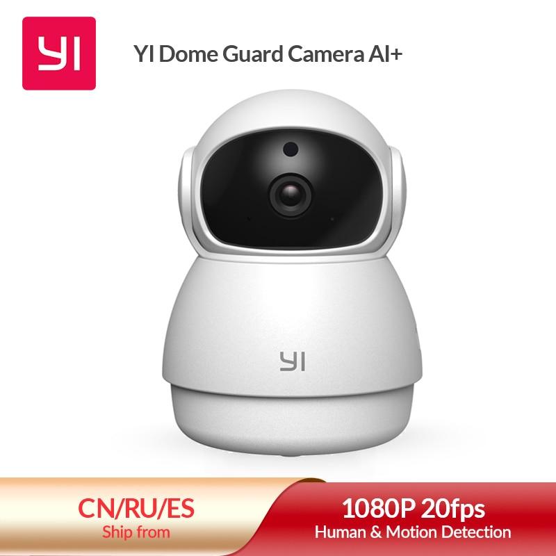 YI Dome Guard Camera 1080p Wifi Camera Human Pet AI Webcam Ip Camera Security Home Indoor Cam Pan & Tilt 360 video recorder cam