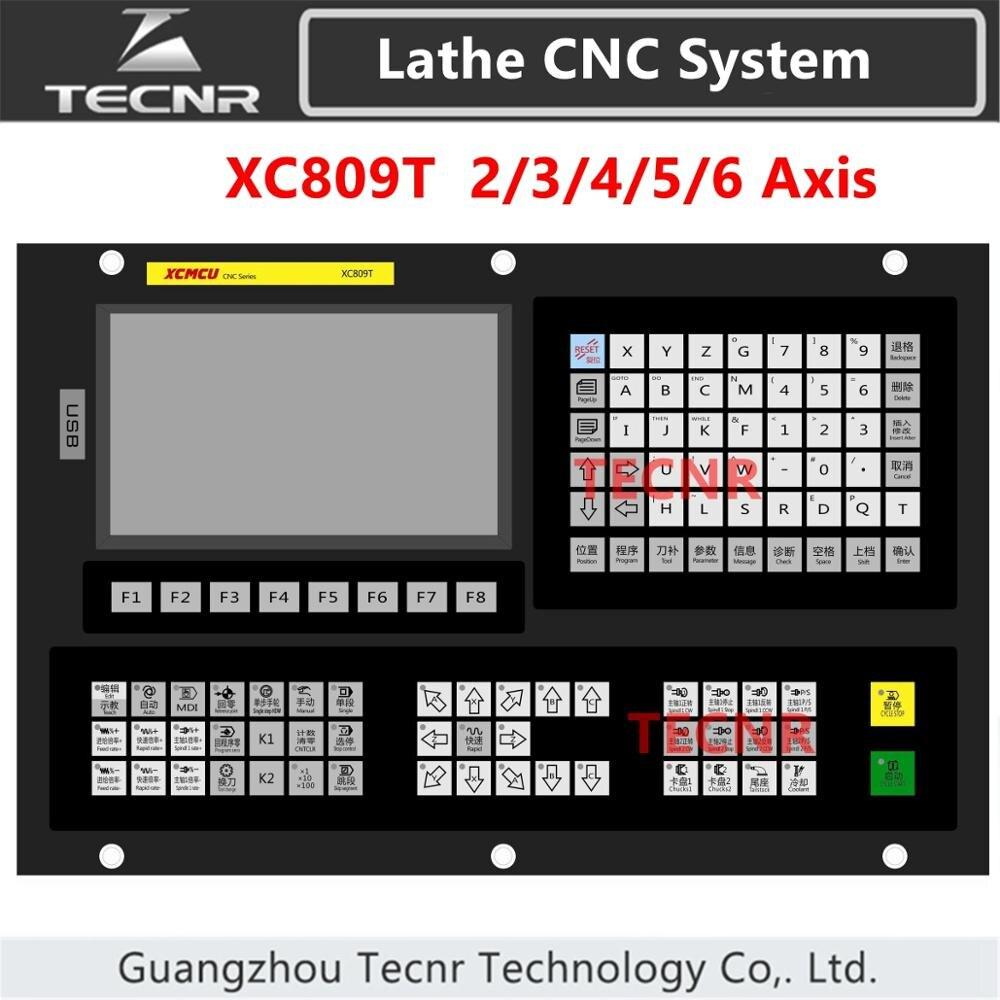 XC609T 2 محور أوسب آلة خرط تعمل بالتحكم الرقمي بواسطة الحاسوب نظام التحكم G-كود لخطوة محرك معزز دعم الدائرة الخارجية ، نهاية الوجه ، فتحة ، تفتق ، ...