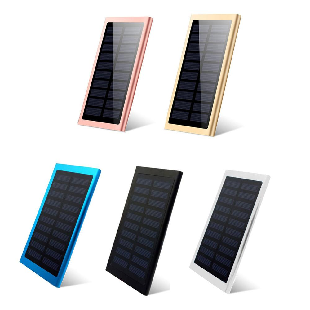 20000 mah banco de energia solar para xiaomi iphone samsung led powerbank portátil carregador de bateria externa power bank display digital