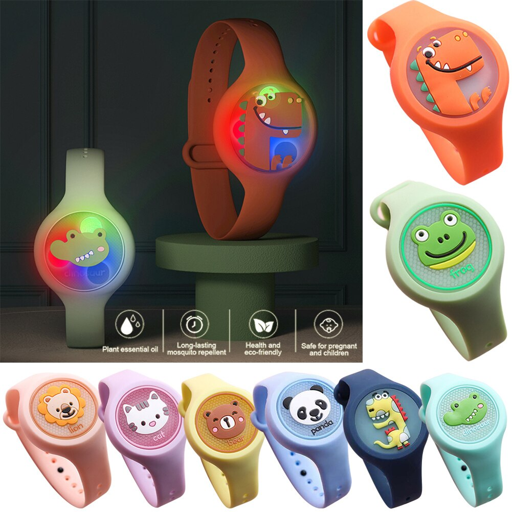 2020 Kids Mosquito Repellent Watch Lightweight Natural Mosquito Repellent Bracelet Plant Essential Oil Mosquito Repellent Device