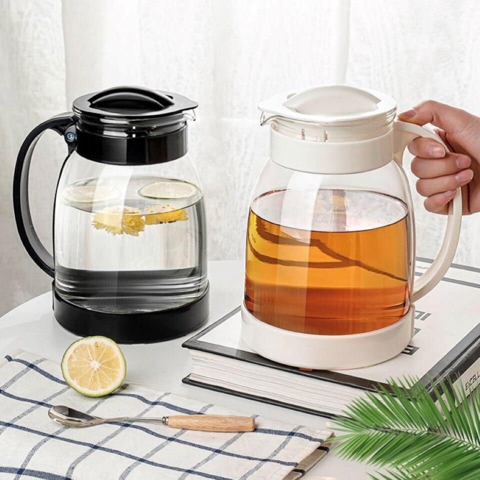 إبريق ماء منزلي سعة كبيرة 2000 مللي إبريق ماء ساخن/بارد إبريق كبير جيد لإبريق عصير حليب بمقبض