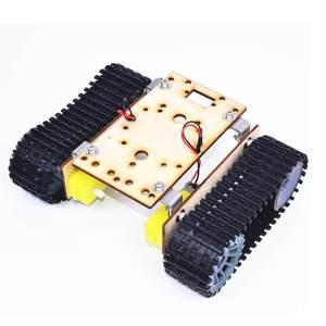 Small Hammer DIY Smart Wooden RC Robot Tank With Plastic Crawler Belt TT Motor For Arduino UNO