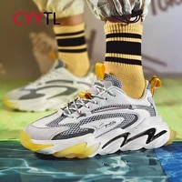 cyytl running youth boys shoes for men fashion sneakers increase casual footwear breathable walking soft sole glowing tennis