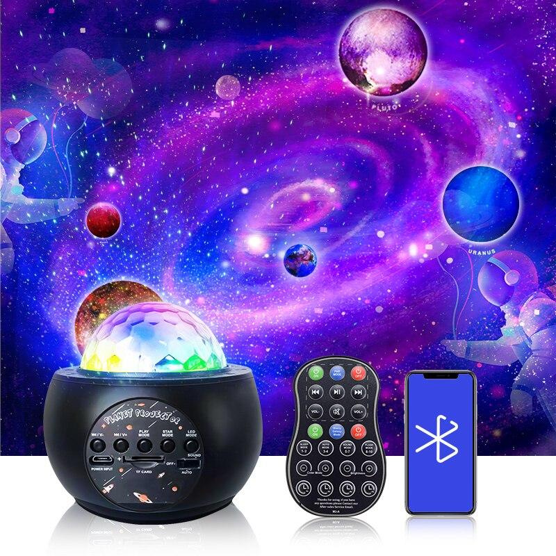 ночник проектор miniland dreamcube 89196 Цветной проектор Звездное небо галактика ночник USB звездный проектор Bluetooth музыка звезда ночник Романтический проекционный светильник