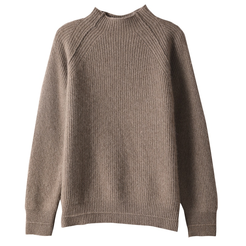 Hot Sale Thicker Warm Sweaters Women 100% Pure Goat Cashmere Knitted Jumpers Female Solid Color Top Grade Pullovers enlarge