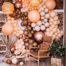 50/30/20 pçs 18 polegada 10 polegada 5 polegada café marrom balões de casamento decoração birhtday balões arco fontes de festa globos