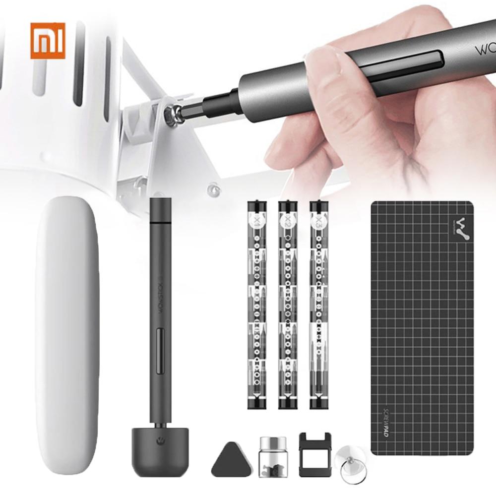 Original Xiaomi Wowstick1F Mini destornillador eléctrico recargable sin cable Kit de controlador de tornillo con luz LED batería de litio destornillador electrico atornillador taladro inalambrico profe destornilladores