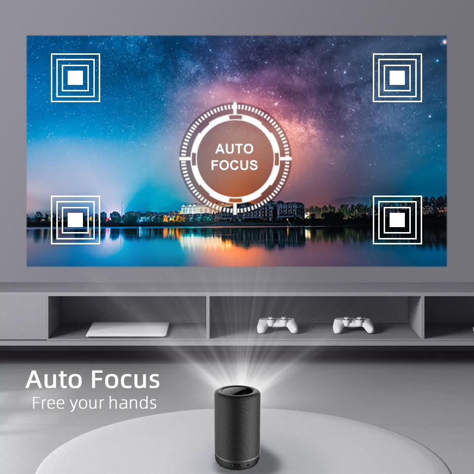 BYINTEK P30 Portable DLP Smart Android WIFI Full HD 1080p TV Video LED Mini Projector for 4K Cinema Smartphone