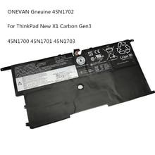 ONEVAN Gneuine Laptop Batterie 45N1700 45N1701 45N1702 45N1703 Für Lenovo ThinkPad X1 Carbon Gen 3 Serie 4ICP5/58/73-2