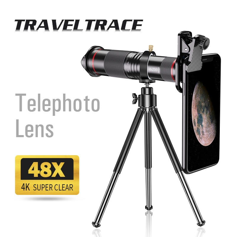 4K Super Telephoto Lens for Smartphone Moment Zoom Monocular Telescope Mobile Camera Cell Phone Lens