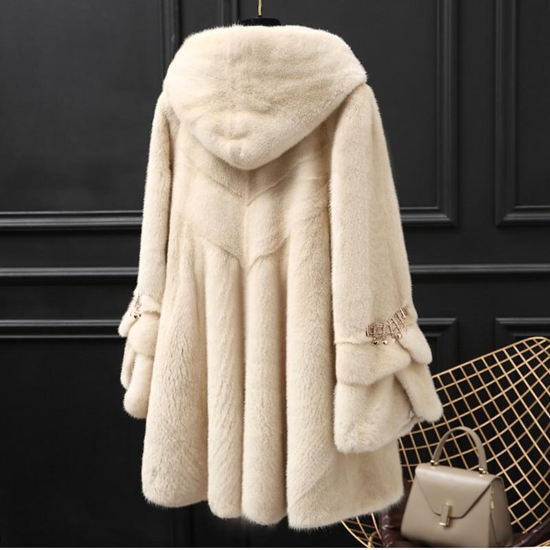 النساء ريال المنك معاطف الإناث معطف فرو منك حقيقي طويل الفراء معطف السيدات ملابس الشتاء المعتاد 6xl 5xl 7xl ناتورا الفراء معاطف