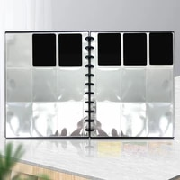 4 9 Grids Transparent Photo Album Photo Protective Page Bag Mushroom Gifts Cover Replaceable Loose-leaf Hole Storage Card B9M6