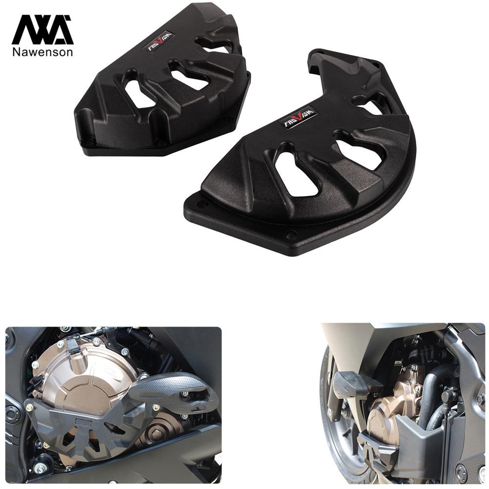 Motorcycle Engine Protective Cover Set Case Guard Crash Sliders for Honda CBR500R/CB500F/CB500X 2013-2019