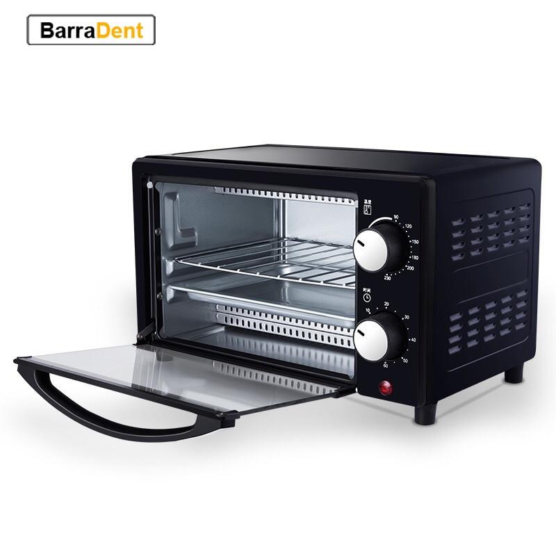 800 واط 12L فرن كهربائي متعدد الوظائف محمصة منزلية طبقات مزدوجة فرن دائم شواء الخبز/الفواكه المجففة/الشواء