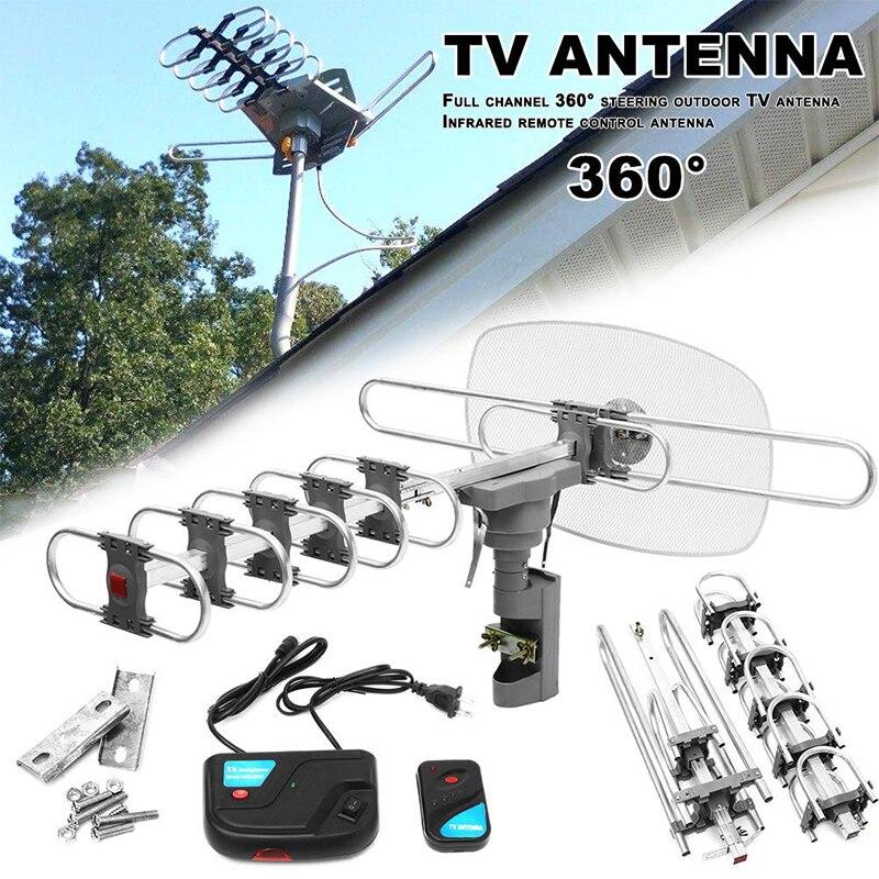 Усилитель сигнала HD наружная цифровая ТВ Антенна 150 милей для Full HD 720p1080p 1080I 4K телевизионный усиленный сильный сигнал